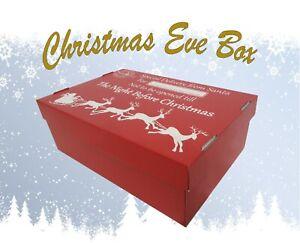Large Christmas Eve Box Santa Design Xmas Present Gift Hamper Children Holidays
