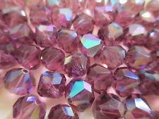 1 Gross VINTAGE W. German Full Tin Cut Beads Amethyst AB 10mm w/Orig Packs WOW!