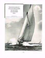 1934 BIG Vintage Spud Cigarette Co. Yacht Sail Boat Sailing Photo Print Ad