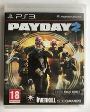 PS3 Payday 2 (2013), UK Pal, Brand New & Factory Sealed, Loose Disc