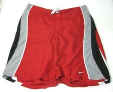NIKE Mens Red Swim Swimming Trunks Board Shorts (Size XL 38 40 42) Surfing Surf