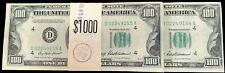 1950 B $100 CLEVELAND FEDERAL RESERVE 10 CONSECUTIVE NOTES $1000 PACK CRISP UNC