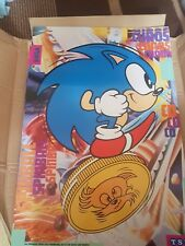 "Extremely Rare ""SONIC THE HEDGEHOG POSTER"" UK TSB BANK NSPCC Promo Vintage SDCC"