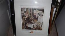 COCA COLA VNTG. FRAMED AD OUT OF ART GALLERY ( LOT 1)