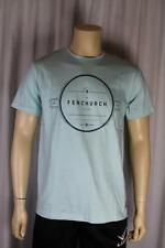 Fenchurch Hombre Verde Menta Camiseta Talla Mediana (89)