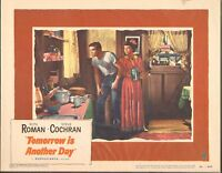 1951 MOVIE LOBBY CARD #2-928 - TOMORROW IS ANOTHER DAY - RUTH ROMAN - S. COCHRAN