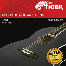 Tiger Acoustic Guitar Strings, Super Light (11-52) - AGS-SL