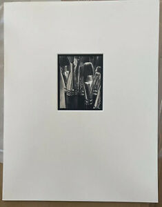 MICHAEL KENNA Signed PAINT BRUSHES Silver Gelatin Print NUMBERED Limited Edition
