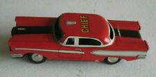 Vintage Japan Fire Chief Car Tin Litho Friction #F14
