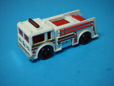 Hot Wheels Mattel White + Red Fire Truck engine #6 Malaysia
