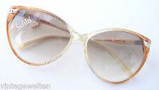 Vintagebrille Sonnenbrille Shopping Safilo braun Verlauf Glitzersteindecor GR:M