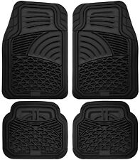 Floor Mats for SUVs Trucks Vans 4pc Set All Weather Rubber Tactical Fit Black