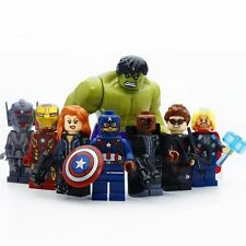 8 X Super Heroes Avengers Minifigures Toys Captain Hulk Iron Man Blocks ZS271