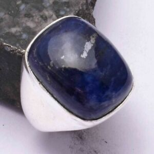 Sodalite Ethnic Handmade Men's Ring Jewelry US Size-8.5 AR 42491