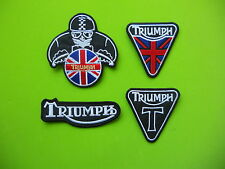TRIUMPH KIT 4 PATCH TOPPE RICAMATE TERMOADESIVE -Replica