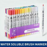 Watercolor Dual Tip Brush Marker Pen 0.4mm Fineliner Sketch Pen Drawing Supplies