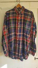 Vintage VTG EUC Polo Ralph Lauren button down shirt. Multicolor plaid Sz L Nice