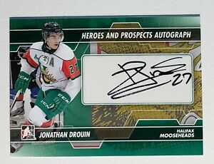 2014 JONATHAN DROUIN LEAF ITG HEROES & PROSPECTS AUTOGRAPH CARD #A-JD