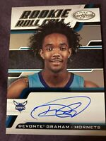 2018-19 DEVONTE GRAHAM Panini Certified Rookie Roll Call Auto #18 RC SP Hornets