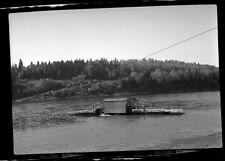 Small Local Cable Ferry Boat Ship NB New Brunswick Photo Negative 7