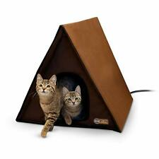 Large Warming Heated Cat Condo House Outdoor Multiple Cats Heater Shelter NEW