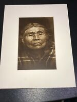1910 Photogravure Photo NATIVE AMERICAN INDIAN Chinook Female EDWARD CURTIS 5x7""
