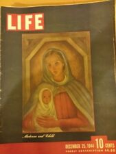 Life Magazine Madonna and Child & How Civil War Began in Greece Dec 25 1944 204
