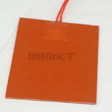 12V DC 80x100mm 20W Flexible Waterproof Silicon Heater Pad For 3D Printer