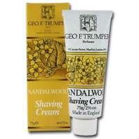Geo F Trumper Sandalwood Mens Travel Shaving Cream Tube With Glycerin 75g