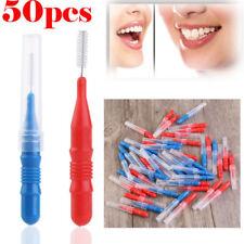 Interdental Brush 50pcs Plastic Between Tooth Teeth Gaps Cleaning Kit UK On Sale