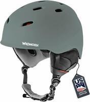 Wildhorn Drift Comfortable VNT technology Snowboard & Ski Helmet, Small-Graphite