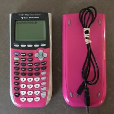TI-84 Plus Silver Edition Texas Instruments Hot Pink Graphing Calculator + Cord