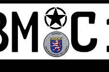 Kennzeichen ersatz Plakette US ARMY Stern Aufkleber