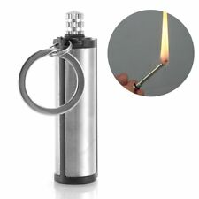 Steel Fire Starter Flint Match Lighter Keychain Camping Emergency Survival Gear