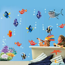 45*60cm 3D Tropical fish Sticker Carton Bathroom Room Wall Paper Home Decor