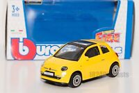 Fiat 500 in Yellow, Bburago 18-30184, scale 1:43, toy gift model
