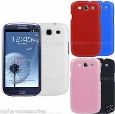 Carbon Fiber Case For Samsung Galaxy i9300 S3 SIII Effected Back Skin Cover - UK