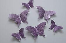 14 Set 3D Schmetterlinge hell Lila Wanddeko Weihnachten