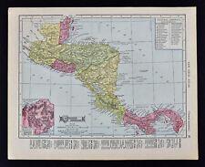 1911 McNally Index Map - Central America Panama Canal Costa Rica Guatemala Beliz