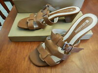 "Naturalizer Silence Saddle Tan Sandal  2"" heels 7M  Casual Dress  Orig $68.00 AK"