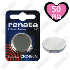 Batterie RENATA CR2450N Litio 3V Batteria A Bottone CR 2450N, 50 Pz