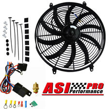 """16""""inch 12V Electric Radiator Cooling Fan +Mount Kits+Thermostat Kits Universal"""