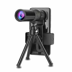 Telescopio zoom super monoculare regolabile 4K 10-300x40mm clip per treppiede