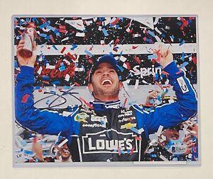 Jimmie Johnson Lowes #48 Car NASCAR Signed 8x10 Photo Autograph Beckett BAS COA
