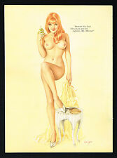 Vintage Alberto Vargas Girl Redhead Nude Woman Lingerie Pin Up Art Print