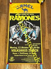 VTG Ramones Concert Poster 1987 Original Very Rare Punk Rock Switzerland CBGB OG