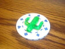 Green Desert CACTUS design Poker Chip,Golf Ball Marker,Card Guard  White