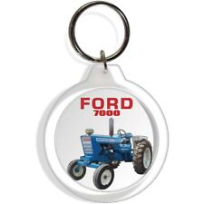 FORD GARDEN FARM  INDUSTRIAL TRACTOR KEYCHAIN KEY CHAIN RING 7000 EQUIPMENT PART