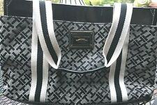 Tommy Hilfiger - Medium Iconic Tote - Black & Gray - Patent Details  *NWOT**