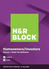 H&R Block 1336604-19 Tax Software Deluxe + State 2019